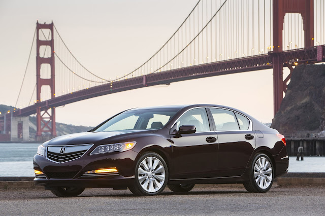 Front 3/4 view of 2016 Acura RLX Sport Hybrid