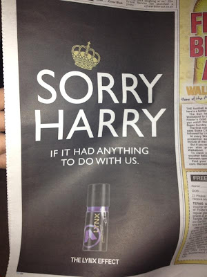 "Lynx Body Spray: Prince Harry ""Sorry"" Ads"