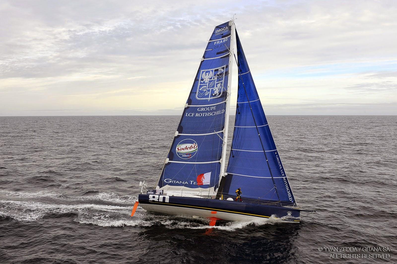 Gitana Eighty sur le Vendée Globe 2008, skippé par Loick Peyron