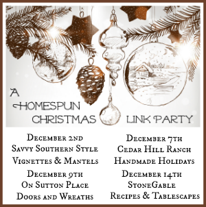 A Homespun Christmas Link Party