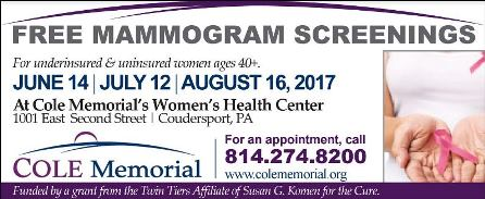 6-14 Free Mammograms