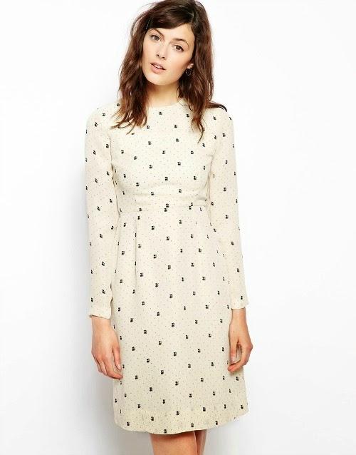 cat print dress - mod cloth