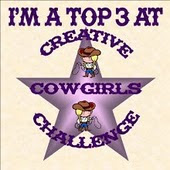 I made the top3 at Creative CowGirls Challenge