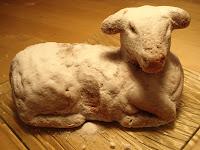 Gâteau de Pâques en forme d'agneau