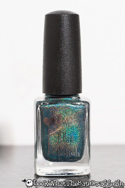Love Thy Polish Green Eyed Monster nail polish swatch bottle macro