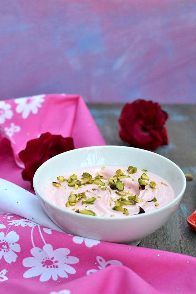 Rose Shrikhand (Gulab Shrikand)