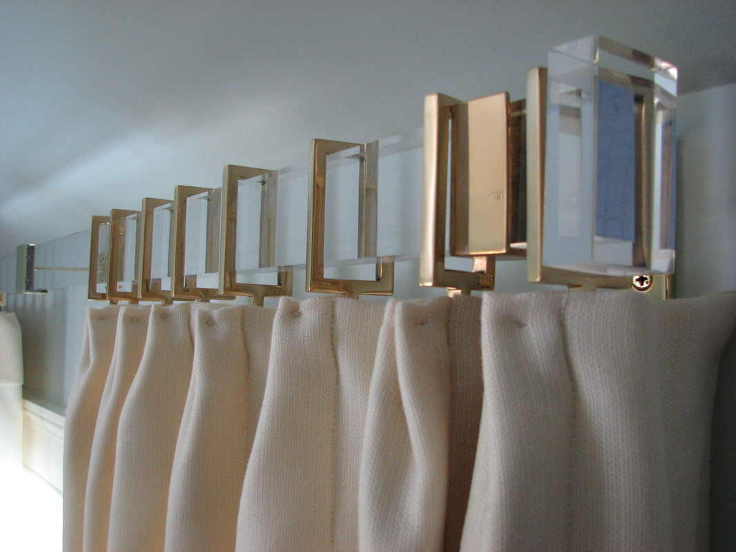 Lucite Curtain Rods