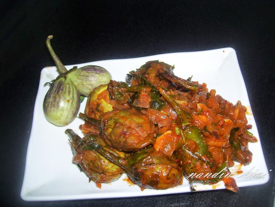 Kinis kitchen brinjal masala fry thanks to oggarane dabbi cookery show z kannada channel for this recipe forumfinder Images