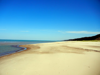 The beach in Indiana Dunes National Lakeshore in Indiana