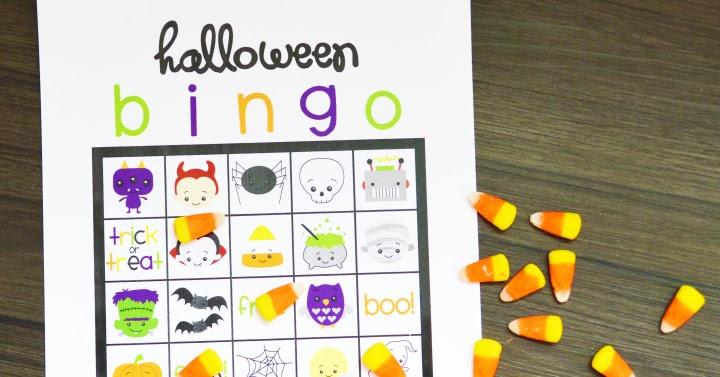 free printable halloween bingo artsy fartsy mama - Preschool Halloween Bingo