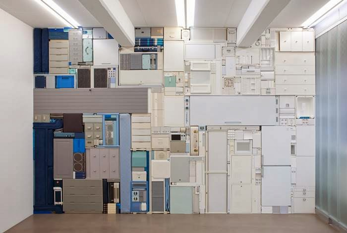 Tetris Sculptures And Installations by Michael Johansson
