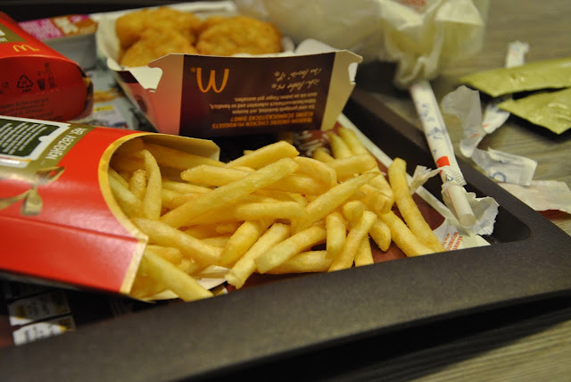 McDonald's Pommes und Müll