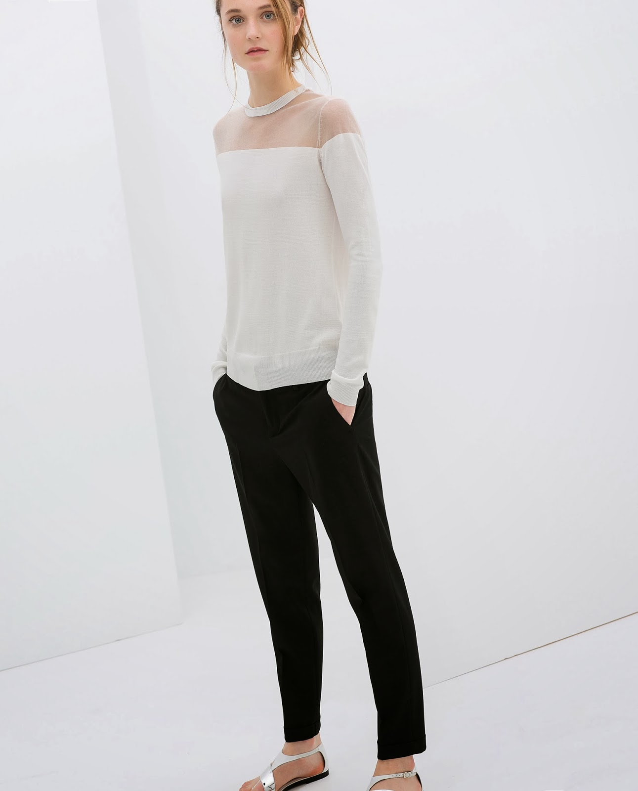 zara white jumper
