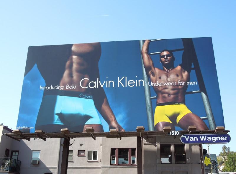 Calvin Klein Bold mens underwear billboard