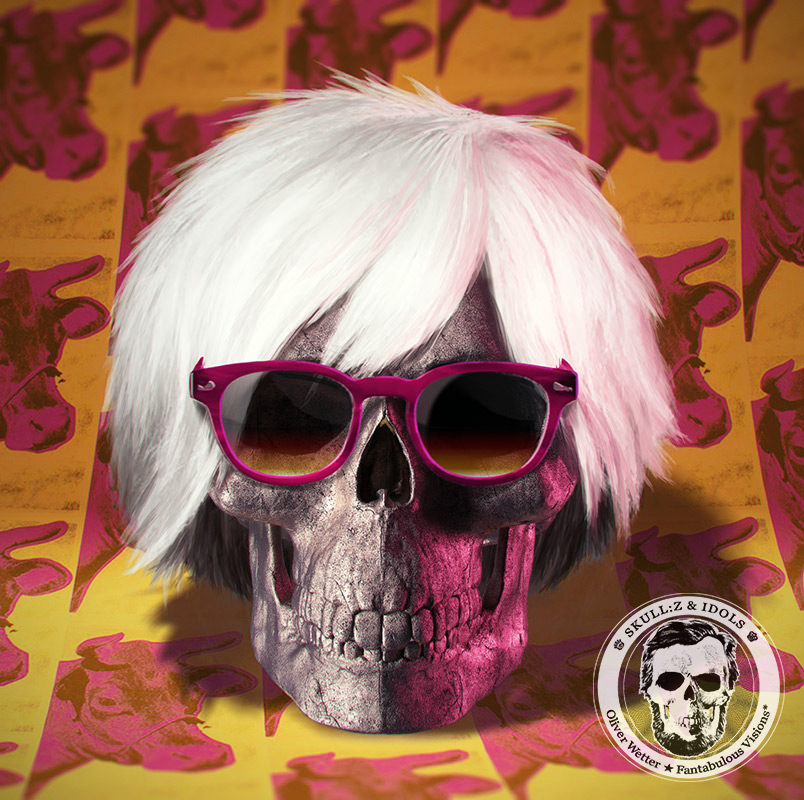Skull portrait of Warhol