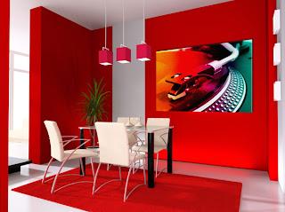 Decoração de interiores de sala