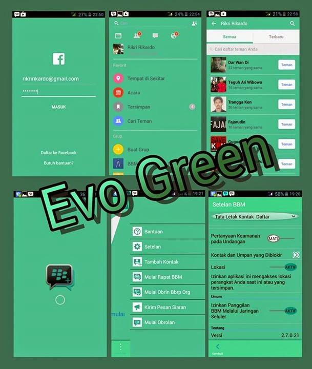 BBM Mod Evo Green Apk 2.7.0.21