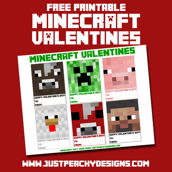 Hereu0027s One Last Valentine Freebie For You, And I Apologize For How Late It  Is. I Wanted To Make These Printable Minecraft Valentines Sooner, ...