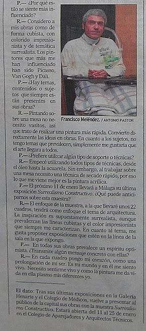 """""""ENTREVISTA EL MUNDO - MÁLAGA"""""""