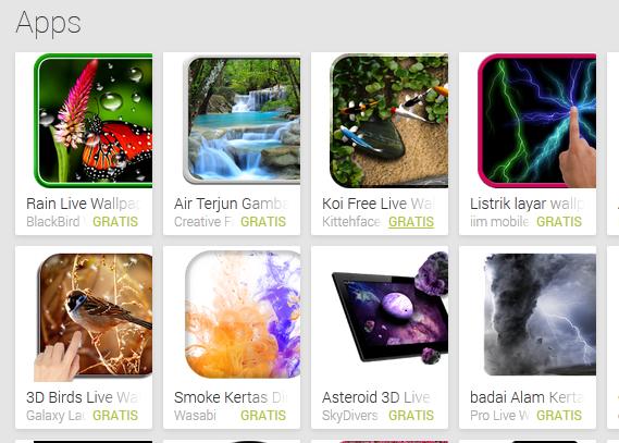 Aplikasi Android, Live Wallpaper Terbaik