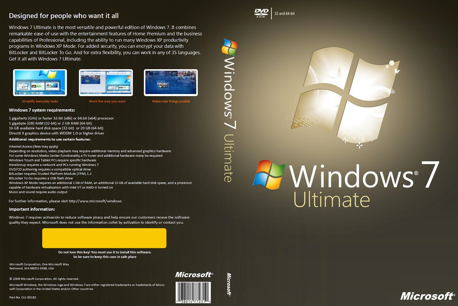Windows customs windows 7 ultimate x86 sp1 u media refresh for Window 7 ultimate