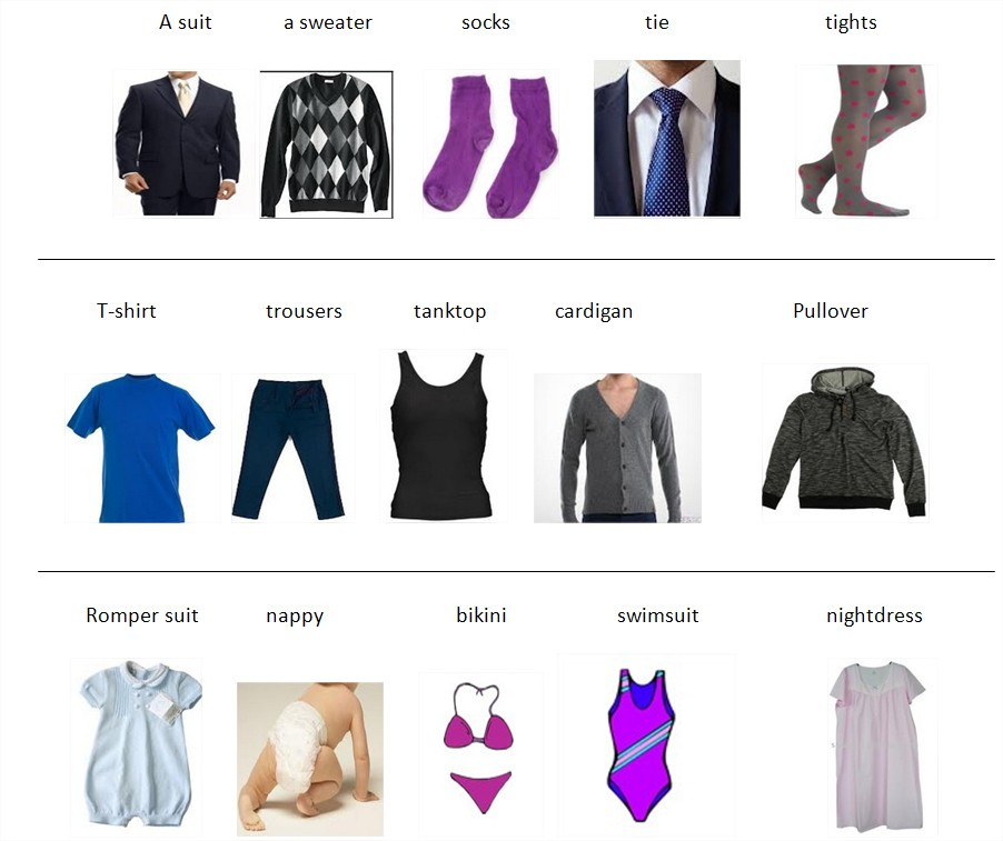 Here is a video talking about the clothes vocabulary: