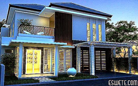 Model Gambar Desain Rumah Mewah Minimalis   Eswete