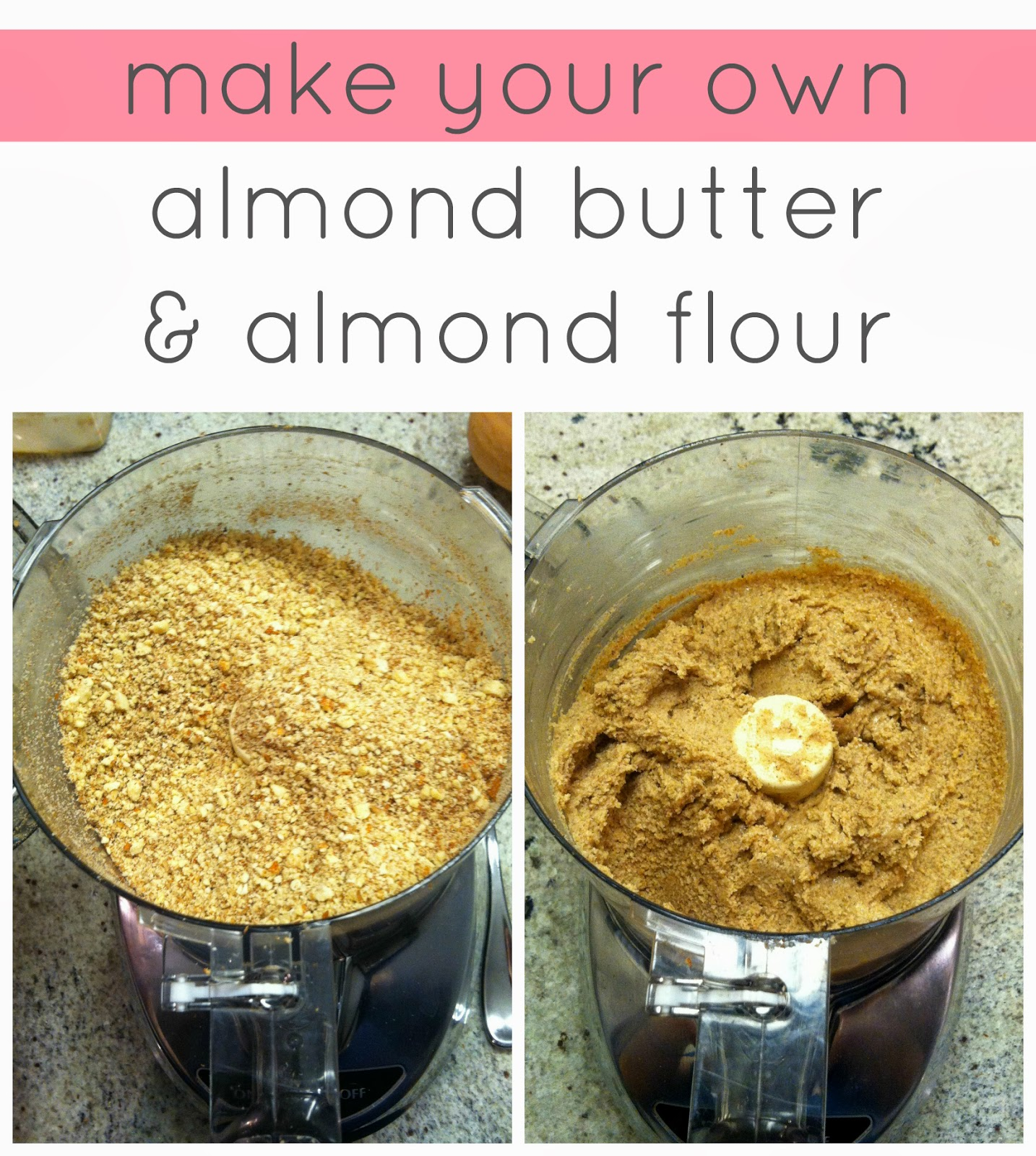 Easy homemade staple recipes how to make your own almond butter and i love making my own raw almond butter and almond meal at home in the cuisinart i instagrammed this shot of my last batch of raw almond butter forumfinder Images
