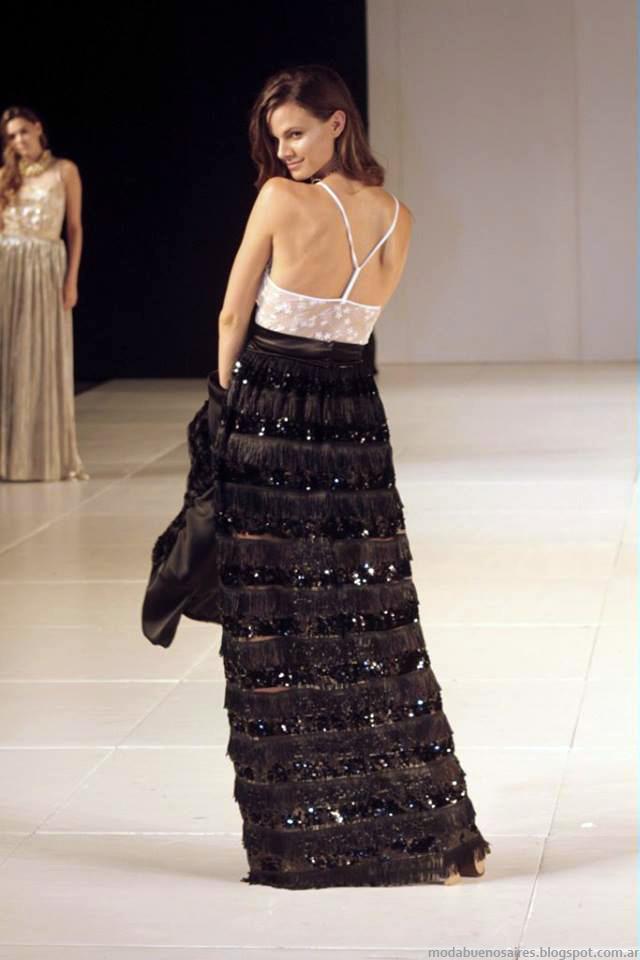 Moda faldas de fiesta invierno 2014 Almendra Peralta Ramos colección otoño invierno 2014.