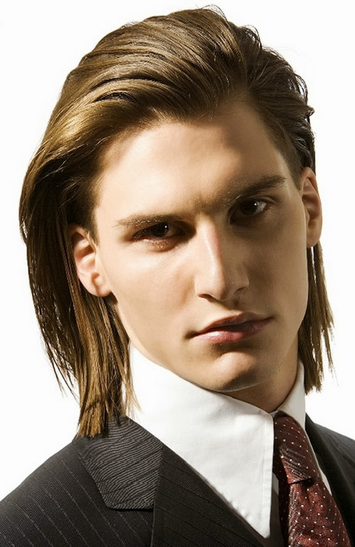 elegant long hairstyles for men
