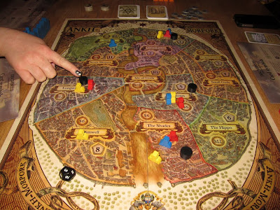 The game board from Discworld: Ankh-Morpork