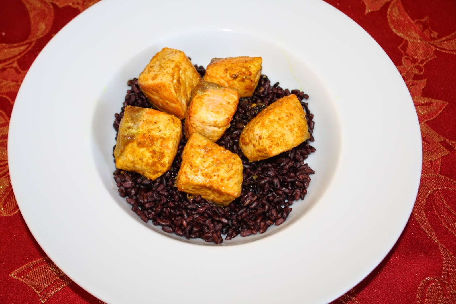 ricetta salmone curry