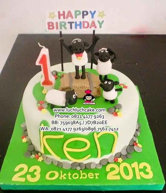Kue Tart Shaun The Sheep Daerah Surabaya - Sidoarjo