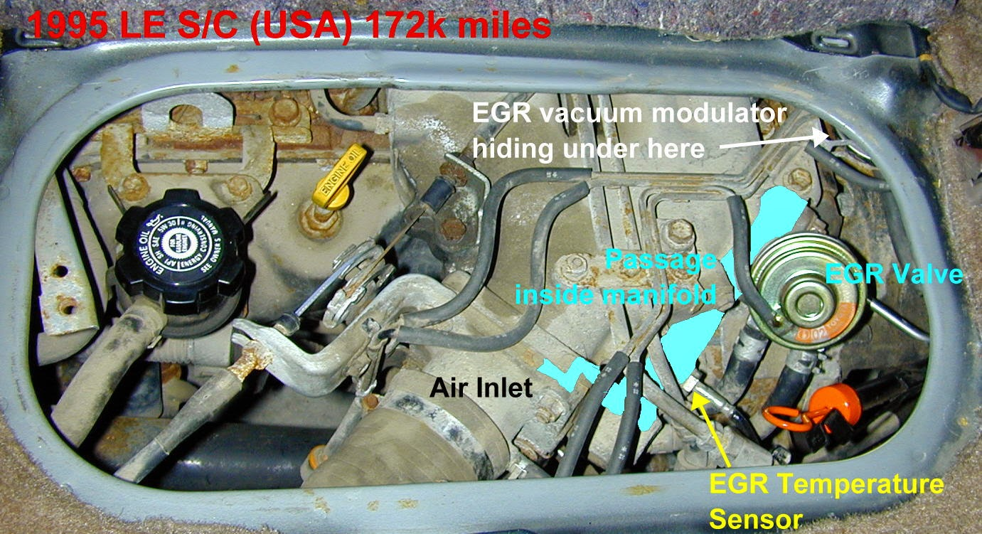 Egr System Clean Out And Code P0401 About My Previa Sienna Toyota Fuel Filter Location Http Zenseekernet Previamaintenancehtm