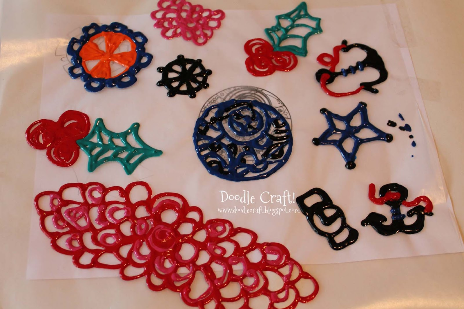 Puffy paint designs - Puffy Paint Bracelets Wristbands And Headbands