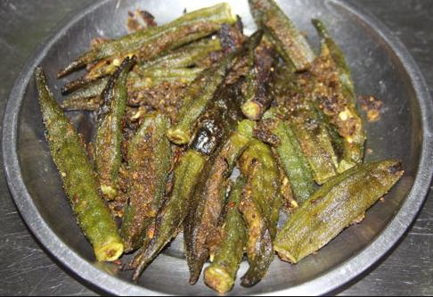 भिन्डी मसाले वाली सब्जी या साग