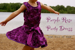 Purple Rose Party Dress