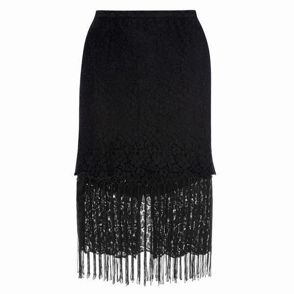 las faldas con flecos son ideales para todos los días