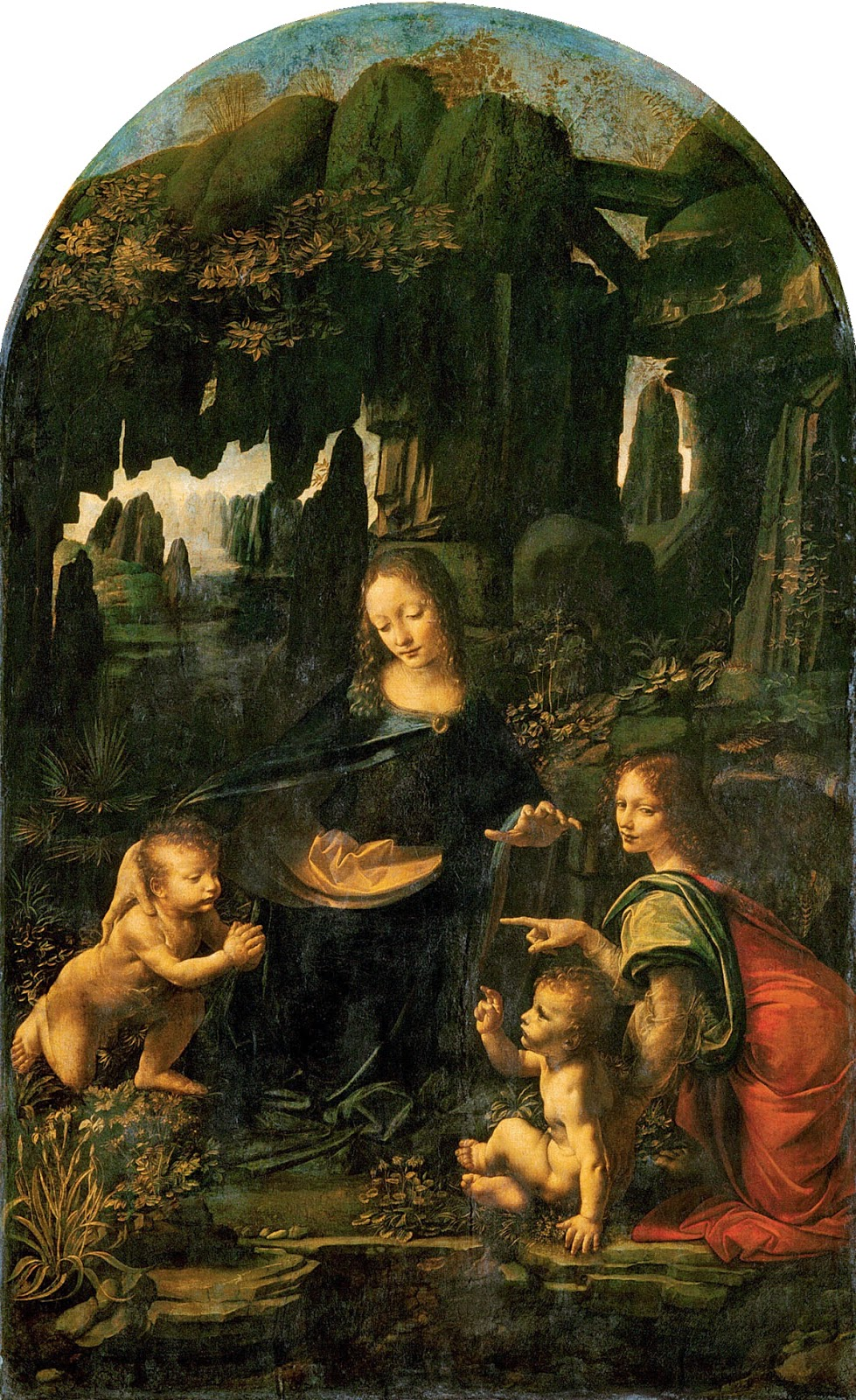 The Virgin of the Rocks (Louvre Version) by Leonardo da Vinci c1485