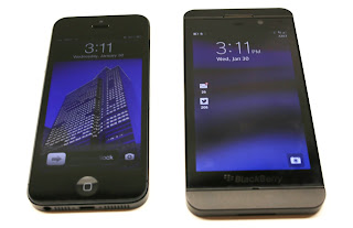 iPhone5 vs BlackBerry Z10