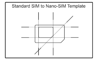 template for SIM adaptor shape