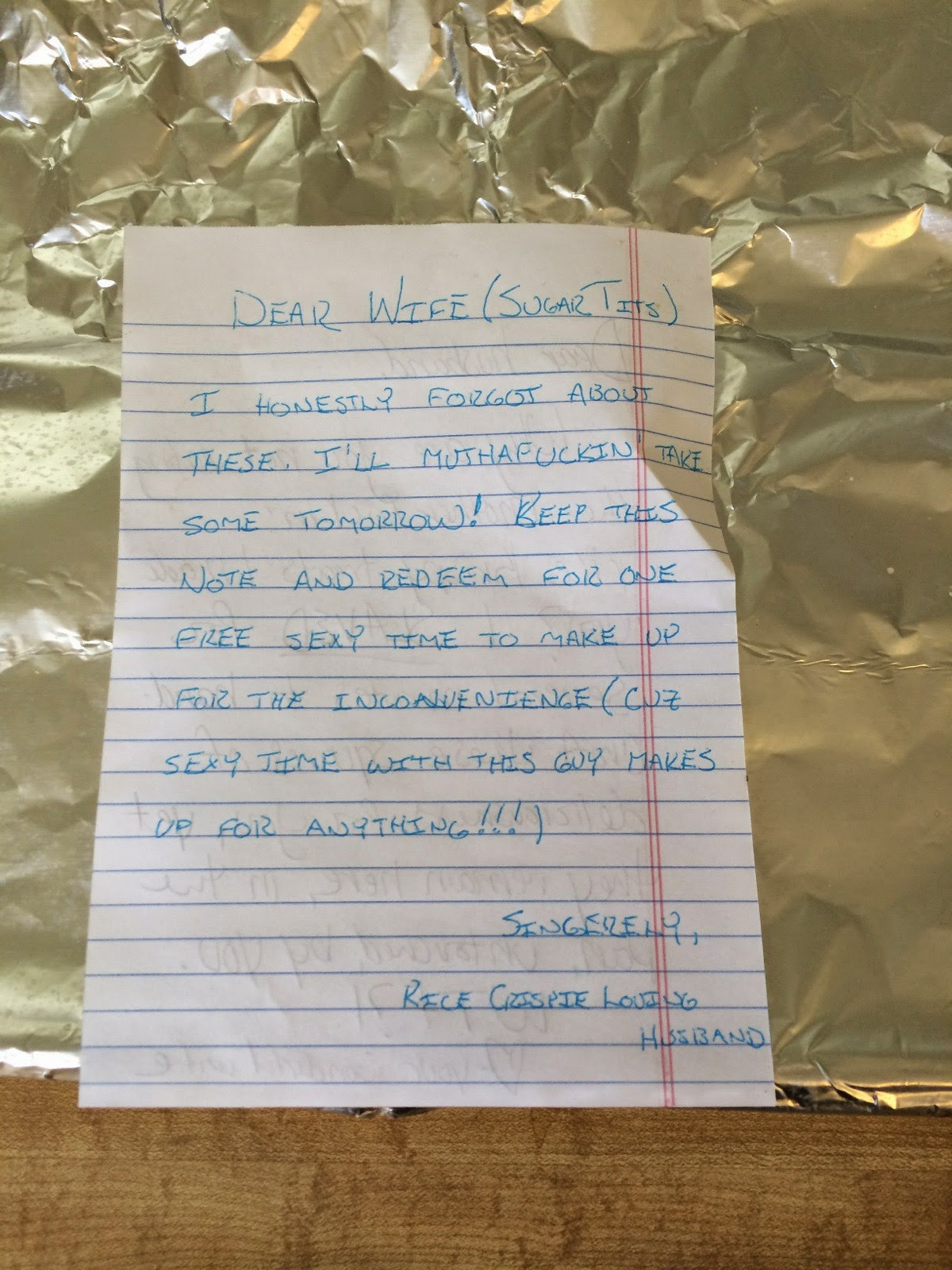 Angrivated Love Letters Between A Wife And A Husband