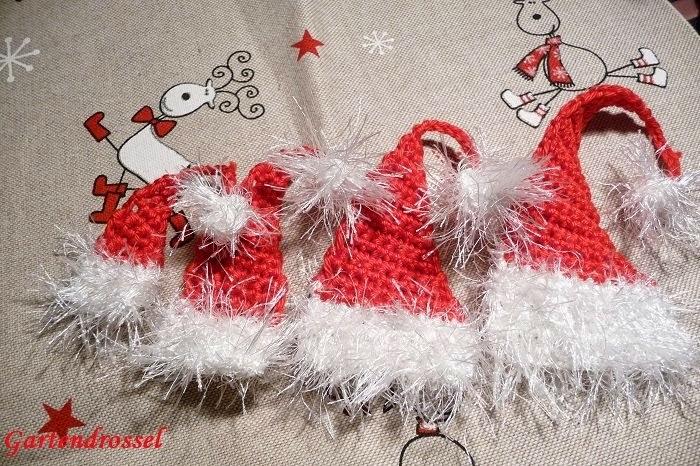DIY Ho Ho Ho Weihnachtsmannmützen