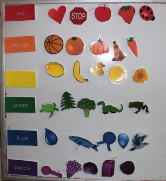 A color sorting printable to help your child learn colors