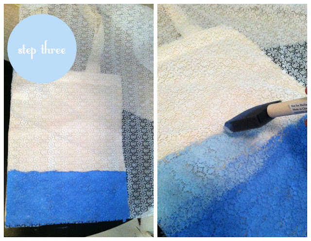 DIY ombré wedding tote by oh lovely day | tutorial