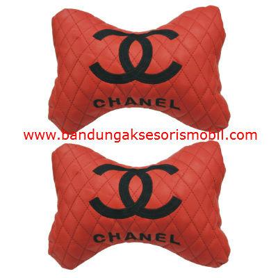 Bantal Kepala Chanel Perancis Merahper 2 pcs