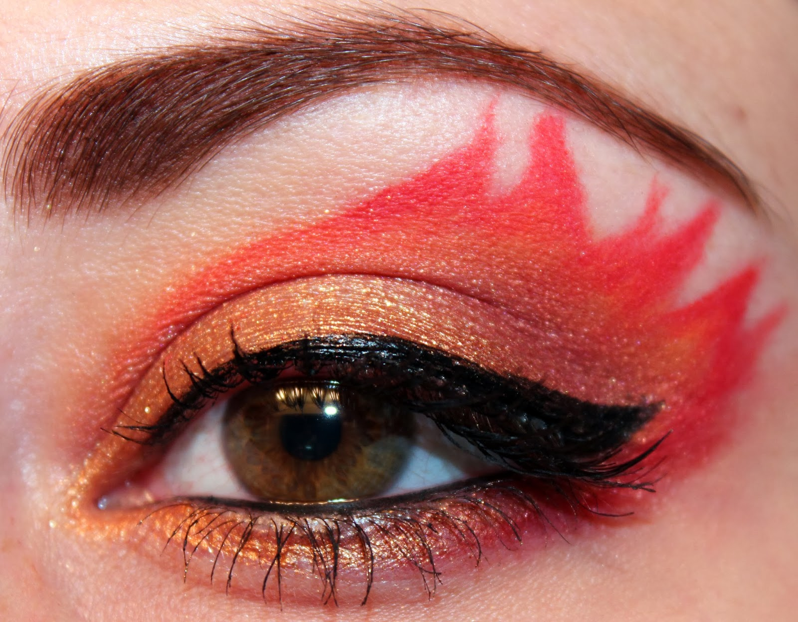 Makeup Ideas fire makeup : ... Hunger Games Inspired Makeup Series : District 12 (The Girl on Fire