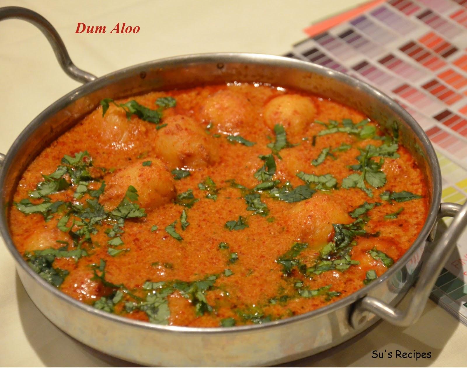 Su's Recipes: Dum Aloo (Potato Gravy)