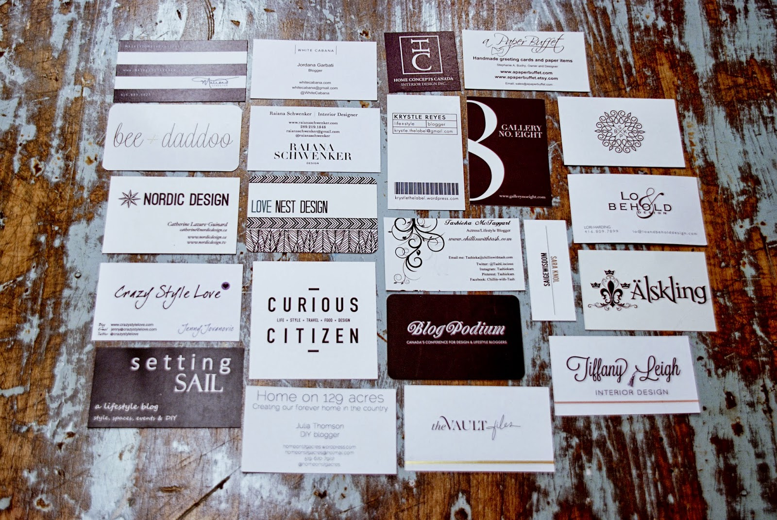 Blogger Business Card Inspiration - Rambling Renovators