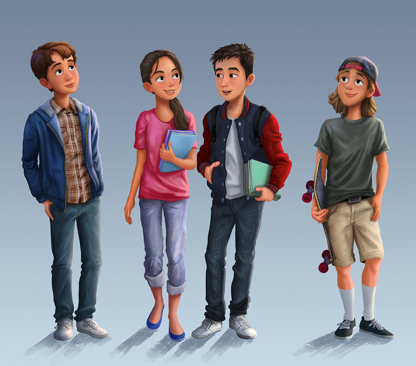 Children S Teens: Erwin Madrid Blog: Illustrations Of Teens